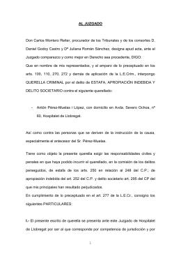 Documento: texto íntegro de la querella contra