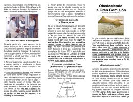 Obedeciendo la Gran Comisión - Iglesia de Cristo Silver Spring