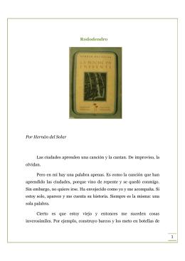 1 Rododendro Por Hernán del Solar Las ciudades