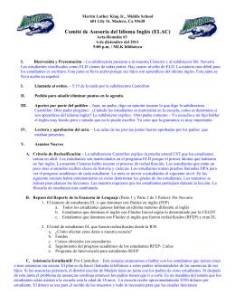 Comité de Asesoría del Idioma Inglés (ELAC)