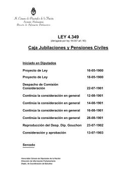 LEY 4.349 Caja Jubilaciones y Pensiones Civiles