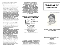 SÍNDROME DE ASPERGER - Parent Information Center