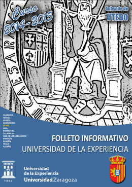 descargar folleto - Universidad de Zaragoza