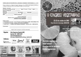 Folleto informativo - Unión Vegetariana Española
