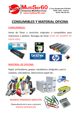 folleto general consumibles