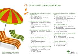 ¿cuánto sabes de protección solar?