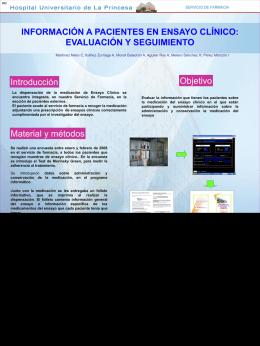informacion a pacientes en ensayo clinico: evaluacion y seguimiento.