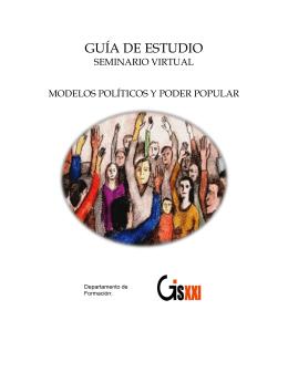 """guía de estudio """"seminario virtual"""" modelos políticos y"""