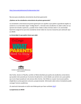 http://uncw.edu/admissions/FirstGeneration.html Recursos para