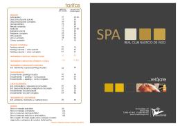 Descarga el folleto de Servicios y Tarifas