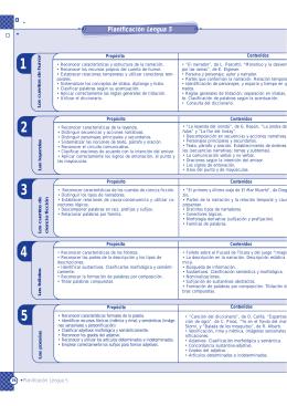 Planificación Lengua 5