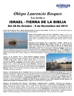 Obispo Laurencio Bosques Los invita a