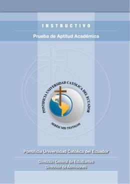 podrás encontrar un Instructivo - Pontificia Universidad Católica del