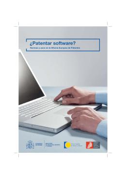 ¿Patentar software? - Oficina Española de Patentes y Marcas
