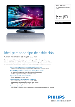 22PFL3606/77 Philips TV LED con Digital Crystal Clear
