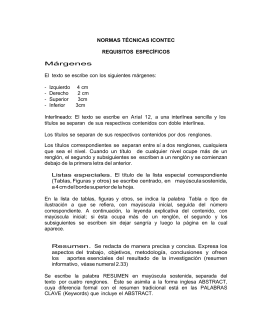 NORMAS TÉCNICAS ICONTEC REQUISITOS ESPECÍFICOS