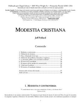 MODESTIA CRISTIANA