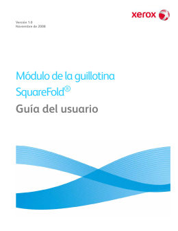 Módulo de la guillotina SquareFold Guía del usuario