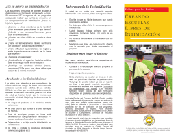 Spanish - Bullying Brochure Final Final Copy.pub