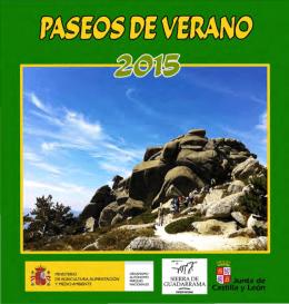 Folleto del Programa CENEAM de Paseos de Verano 2015