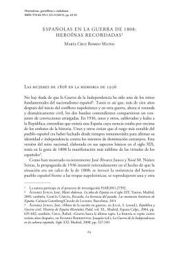 4. Españolas en la guerra de 1808: heroínas recordadas, por María