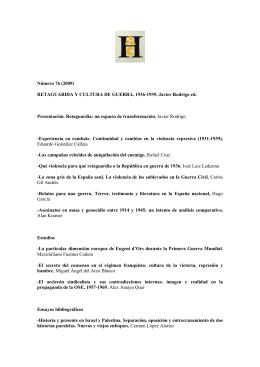 (2009) RETAGUARDIA Y CULTURA DE GUERRA, 1936