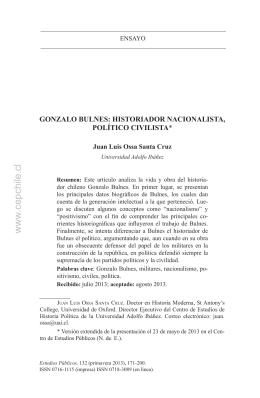 Gonzalo Bulnes - Centro de Estudios Públicos