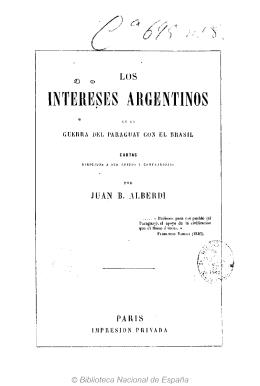 Los intereses argentinos en la guerra del Paraguay con el Brasil