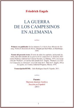 LA GUERRA DE LOS CAMPESINOS EN ALEMANIA