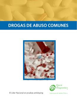 DROGAS DE ABUSO COMUNES