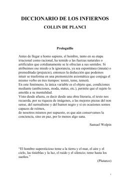 DICCIONARIO DE LOS INFIERNOS