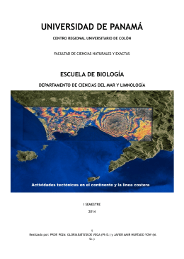 FOLLETO LIMNOLOGIA I SEMESTRE GV 7 DE MAYO 2014