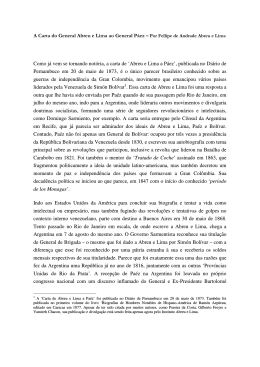 A Carta do General Abreu e Lima ao General Páez – Por Fellipe de