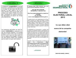 folleto lo que debes saber - Institucionalidad de los Programas