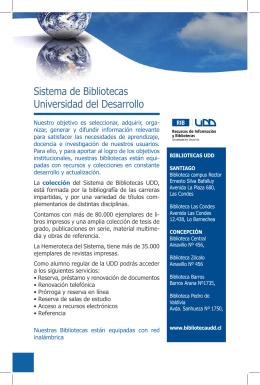Sistema de Bibliotecas Universidad del Desarrollo