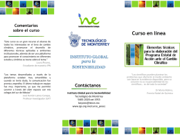 Curso en línea - Instituto Global para la Sostenibilidad