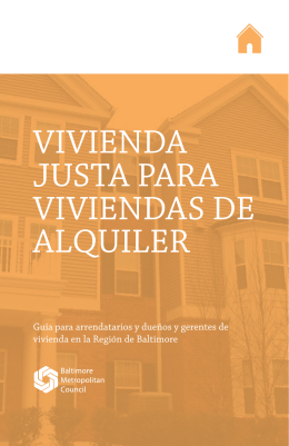 VIVIENDA JUSTA PARA VIVIENDAS DE ALQUILER