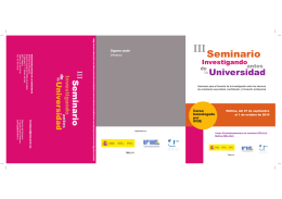 Folleto III Seminario INVESTAUNI