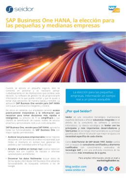 SAP Business One HANA, la elección para las pequeñas y
