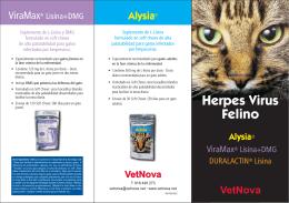 Folleto Informativo ALYSIA, DURALACTIN® Lisina, ViraMax