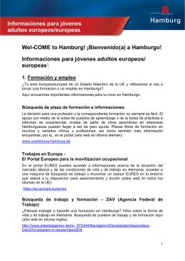 Informaciones para jóvenes adultos europeos/europeas