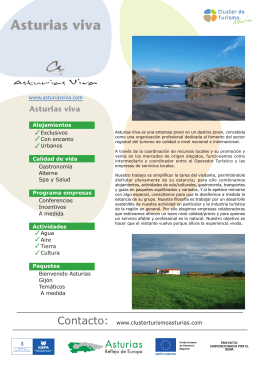 Descarga Folleto PDF - Clúster de Turismo Asturias
