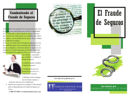 El Fraude de Seguros - Insurance Council of Texas