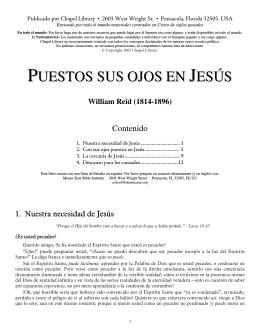 PUESTOS SUS OJOS EN JESÚS