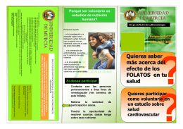 Folleto informativo - Universidad de Murcia