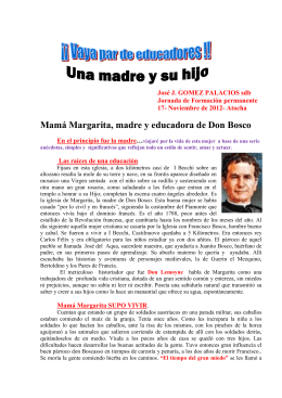 Mamá Margarita, madre y educadora de Don Bosco
