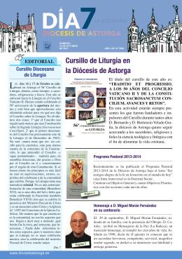Cursillo de Liturgia en la Diócesis de Astorga