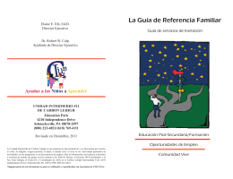 Family Reference Guide - Spanish 2011.indd