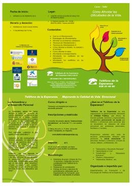 Folleto + instruc. matricula + ficha afrontar dif. vida Feb 2012