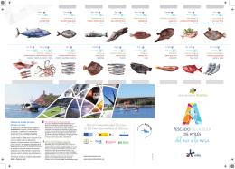 folleto sobre el pescado de la Rula de Avilés